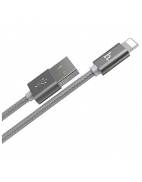 USB-кабель for Apple 8-pin HOCO Rapid Charging X2, серый, 1м